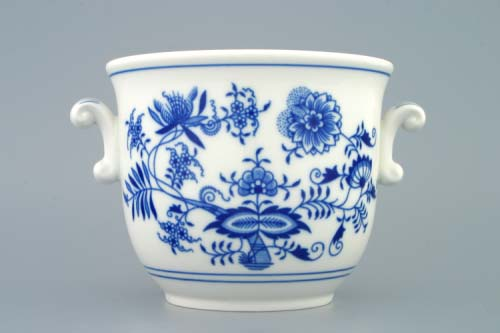Cibulák kvetináč s ušami 6 cm cibulový porcelán, originálny cibulák Dubí 1. akosť