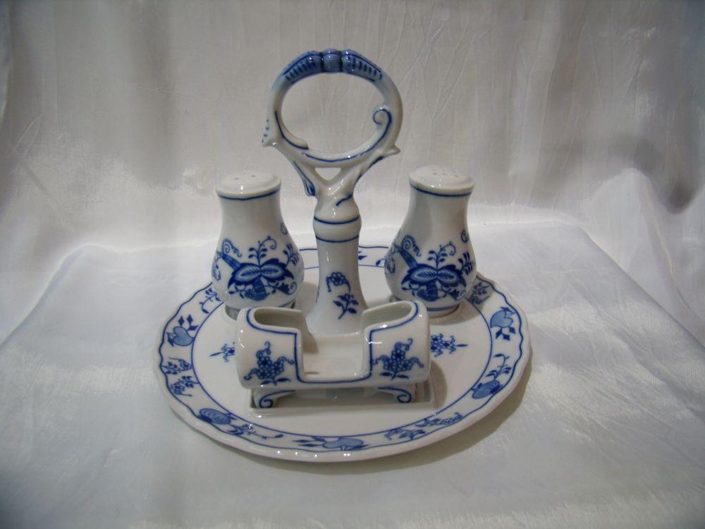 Cibulák stolová súprava 4ks cibulový porcelán, originálny cibulák Dubí 1. akosť