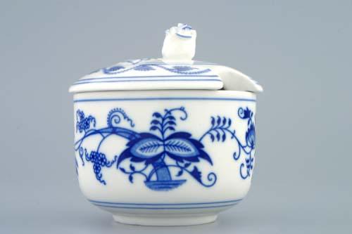 Cibulák cukornička bez ušiek s výrezom 0,20 l cibulový porcelán originálny cibulák Dubí 1. akosť