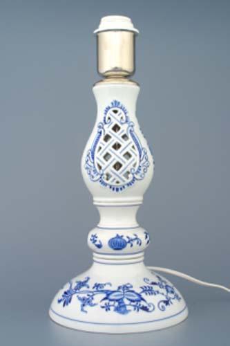 Cibulák lampa prelamovaná s tienidlom 45 cm cibulový porcelán, originálny cibulák Dubí 1. akosť