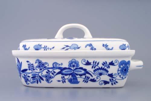 Cibulák pekáč malý s vekom 29,5 cm cibuľový porcelán, originálny porcelán Dubí,