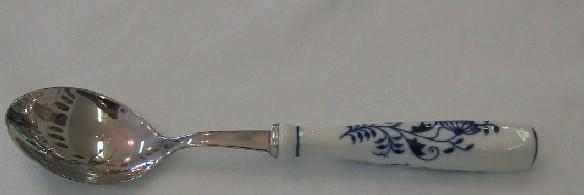 Cibulák lyžica jedálenská 20 cm / balenie 1ks kartón Cibuláková časť - Český porcelán a.s. Dubí, kovová časť - Toner a.s.cibulový porcelán, originálny cibulák Dubí 1. akosť
