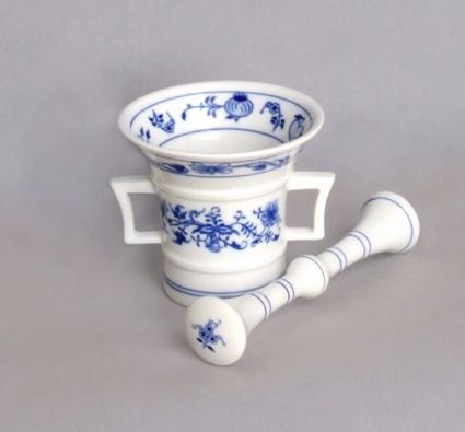 Cibulák mažiar s tĺkom 10 cm cibulový porcelán originálny cibulák Dubí 1. akosť