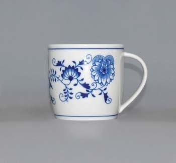 Cibulák hrnček Andreas M 0,26 l cibuľový porcelán, originálny cibuľák Dubí, 1. akosť