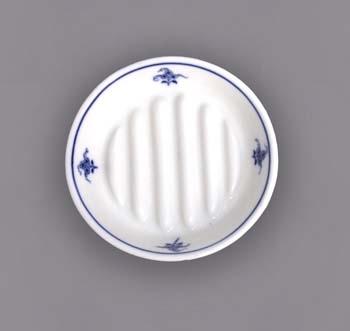 Cibulák hygienická súprava - mýdelníček 12,5 cm cibulový porcelán, originálny cibulák Dubí, 1. akosť