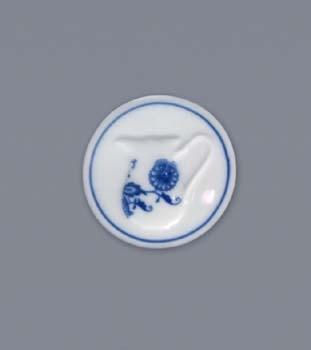 Cibulák magnetka guľatá - mliekovka 4,5 cm cibulový porcelán, originálny cibulák Dubí 1. akosť
