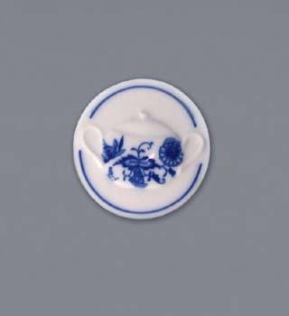 Cibulák magnetka guľatá - cukornička s uškami 4,5 cm, cibulový porcelán, originálny cibulák Dubí 1. akosť
