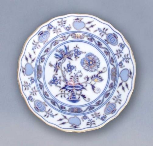 Cibulákový tanier dezertný originálny cibulák pozlátený cibulový porcelán, originálny cibulák Dubí 1. akosť