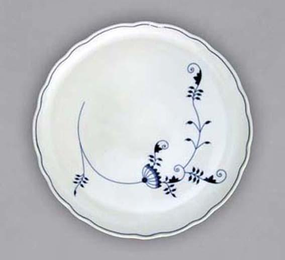 Cibulákový tanier tortový - ECO cibulák 31 cm cibulový porcelán, originálny cibulák Dubí 1. akosť