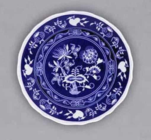 Cibulak tanier dezertný - NEGA 19cm cibulák cibulový porcelán, originálny cibulák Dubí 1. akosť