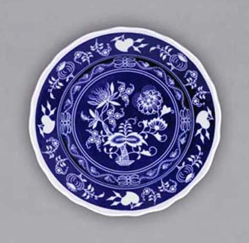 Cibulákový tanier závesný dezertný - NEGA 19cm cibulák cibulový porcelán, originálny cibulák Dubí 1. akosť