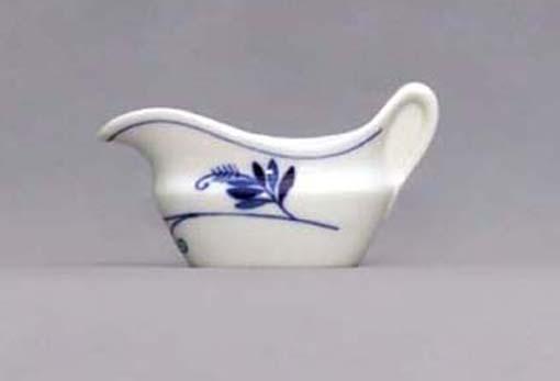 Cibulák omáčnik oválny, bez podstavca s uchom - ECO cibulák 0,10 l cibulový porcelán, originálny cibulák Dubí 1. akosť