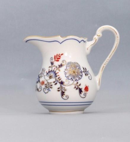 Cibuláková mliekovka vysoká - originál cibulák pozlátený s dekoráciou rubín cibulový porcelán, originálny cibulák Dubí 1. akosť