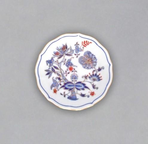 Cibuláková podšálka A / 1 - originálny cibulák pozlátený s dekoráciou rubín cibulový porcelán, originálny cibulák Dubí 1. akosť