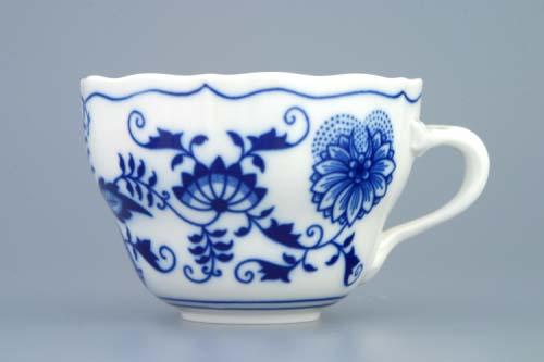 Cibulak šálka a podšálka B + B 0,20 l cibuľový porcelán, originálny cibuľák Dubí